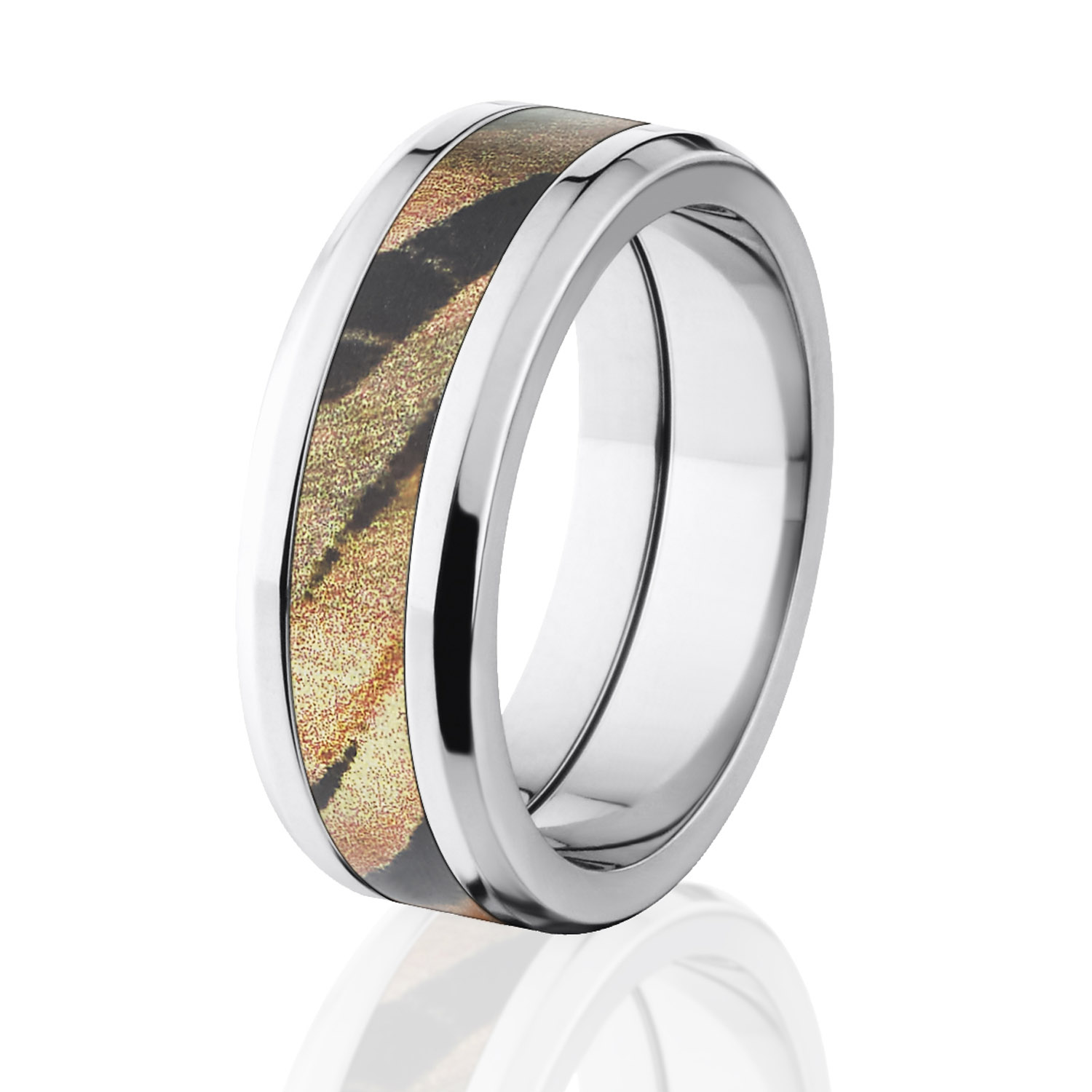 mossy oak rings camouflage wedding bands titanium ring